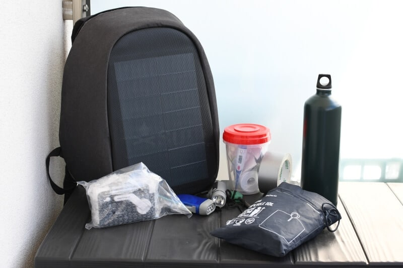 Dan Sullivan's solar backpack and some of his bug out bag gear